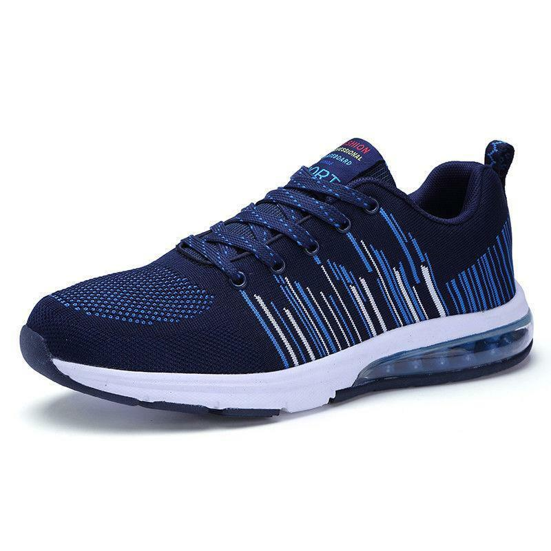 Mens Running shoes Fitness Casual Lightweight Breathable Sports Sneakers Lace Up