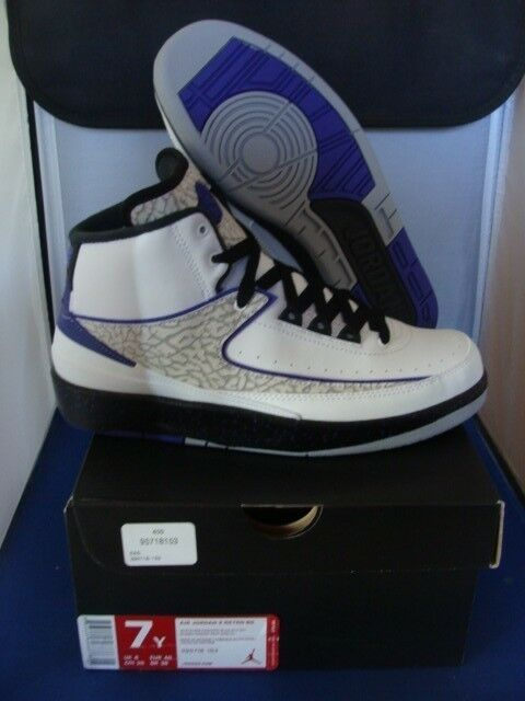 Brand New Nike Jordan Retro 2 Dark Concord Comfortable New shoes for men and women, limited time discount