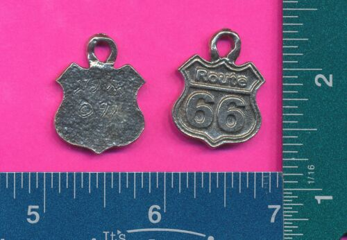 12 wholesale lead free pewter route 66 pendants 4036