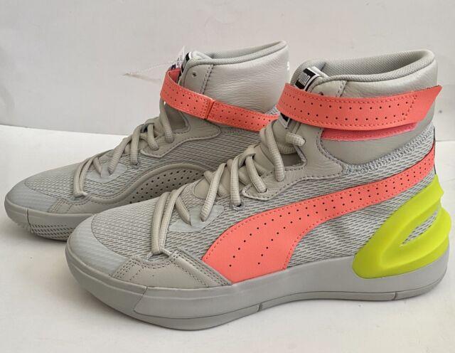 yellow puma basketball shoes