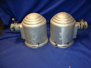 2-vtg-STEAMPUNK-Large-U-S-A-Industrial-Light-Loft-CAST-ALUMINUM-FIXTURE-Sconce