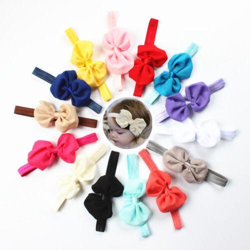 10Pcs Cute Kids Baby Chiffon Toddler Flower Bow Headband Girl Hair Band Headwear