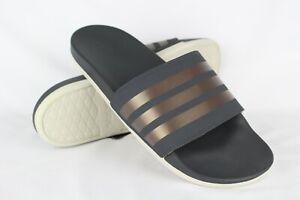 New-Adidas-Women-039-s-Adilette-Comfort-Slide-Sandals-11-Grey-Copper-White-F97200