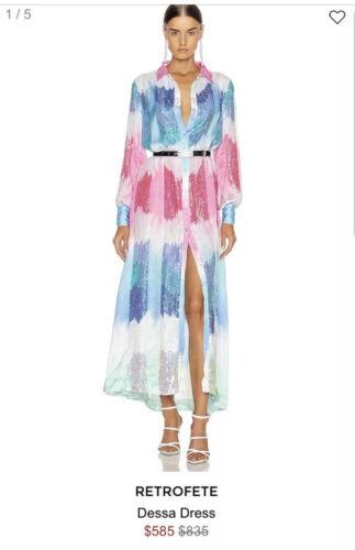 Retrofete Dessa Dress Size Xs Unicorn Dip Dye