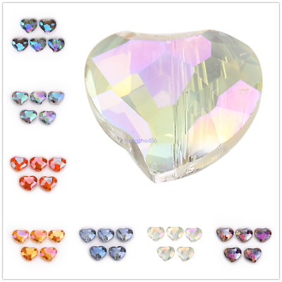 Faceted 20pcs 10mm Twist Crystal Glass Loose Spacer Beads Jewelry Making Crafts