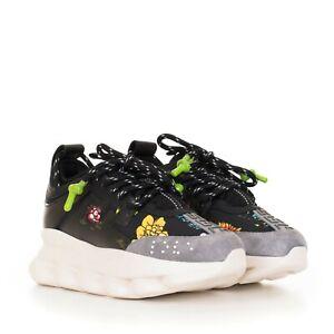 VERSACE 995$ Black Flower Print Chain
