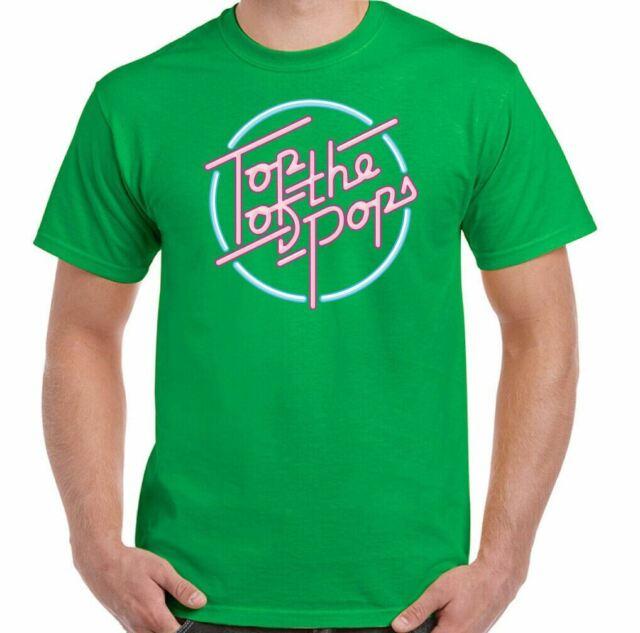 Top of the Pops para hombre Camiseta Show De Música Retro Rock Dance Punk 60s 70s 80s 90s