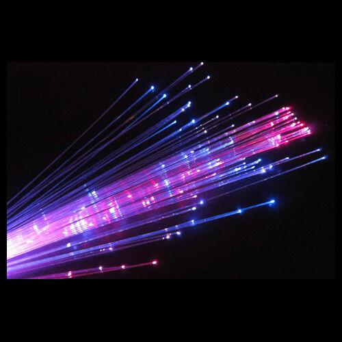6x LED de fibra óptica Varitas-Brillo Colorido Niños Fiesta Rave Festival concierto