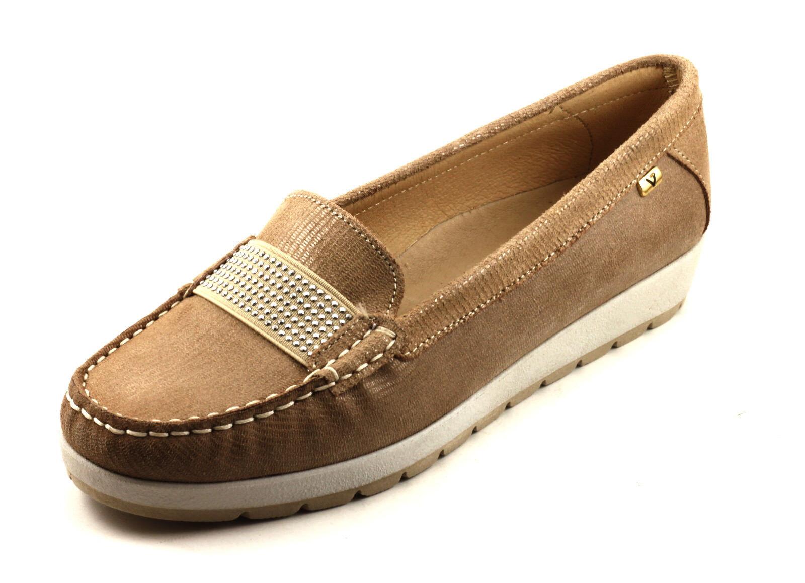 VALLEverde zapatos mujer MOCASSINO ESTIVE  PELLE BEIGE MODA MODA MODA CONFORT n. 40  ¡No dudes! ¡Compra ahora!