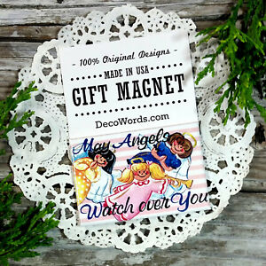 May-Angels-Watch-Over-You-Blessing-for-FRIENDS-USA-New-DecoWords-Fridge-Magnet