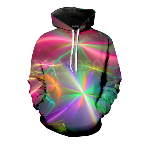 Tie-dye Colorful Print Women//Men Funny 3D Hoodie Casual Sweatshirt Pullover Tops