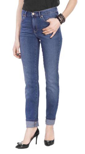Slim Authentic da donna Blue Denim Stretch Flex Ulta High Jeans Wrangler 5wqA78S