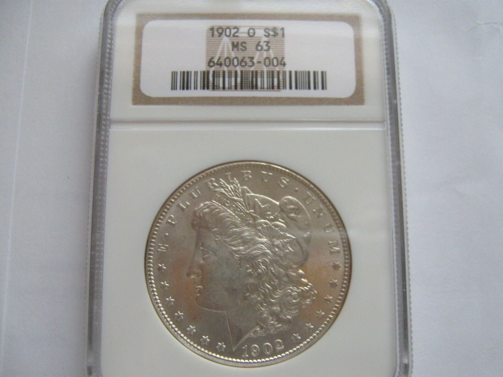 1902-O , Morgan Silver Dollar , NGC , MS 63