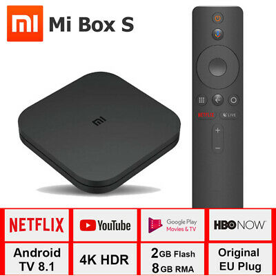 Xiaomi Mi TV BOX S Android 8.1 Quad Core 2+ 8GB 4K WiFi Smart Media Player Negro