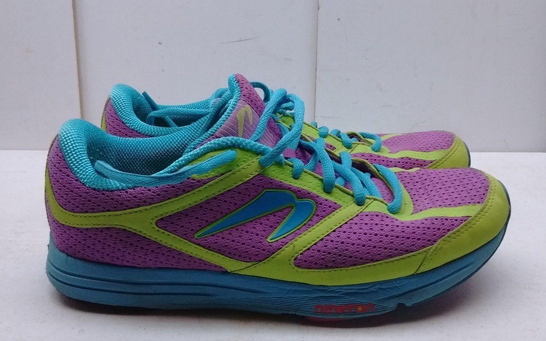 Newton Energy donna Neon viola Mesh Athletic Laced scarpe da ginnastica Running scarpe 8M 39
