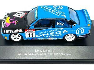 1:43 scale Atlas Editions BTCC Touring Car Collection BMW M3 E30 - Will Hoy 1991