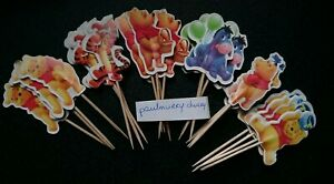 12-X-WINNIE-THE-POOH-Cake-Picks-Cupcake-Toppers-Tigger-Eeyore-Birthday-Party