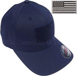 8477096b494e9 Men s Fitted 98% Cotton Flexfit Mid Profile Tactical Cap w Removable ...