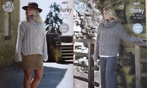 Knitting-Patterns-for-King-Cole-Indulge-Chunky-Pattern-nos-4857-4864