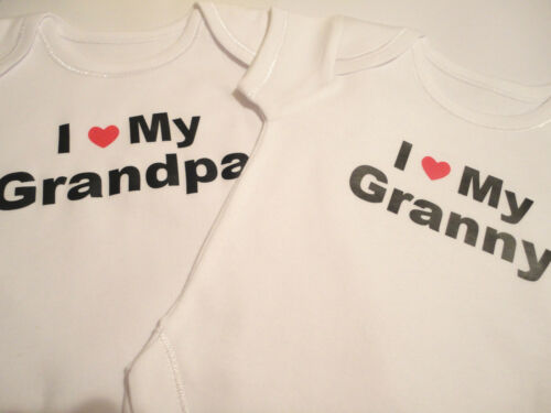 BABYGROW I LOVE MY GRANDMA OR GRANDAD BODY