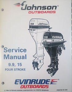 1995 johnson evinrude 9 9 15 hp 4 stroke outboard service repair rh ebay com Evinrude Outboard Evinrude Outboard