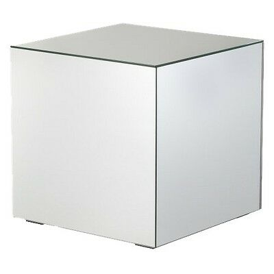 Mirrored Cube Living Room Accent Side/End Table