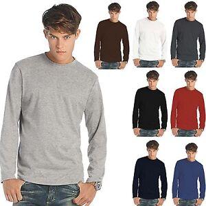 B&C EXACT 190 T Shirt Maglietta Manica Lunga MAGLIA MANICHE LUNGHE UOMO COTONE