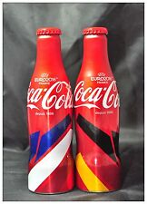 Malaysia Coke Coca-cola UEFA EURO 2016 Aluminum Bottle x2 SET Special Issue NEW