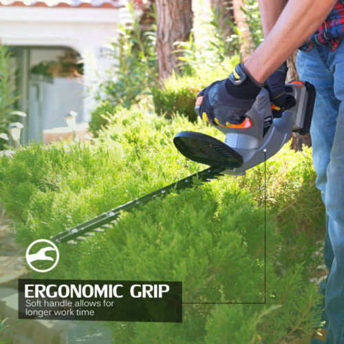 """ELECTRIC HEDGE TRIMMER 22/"""" Dual-Action 20V Cordless Battery and Charger Included"""
