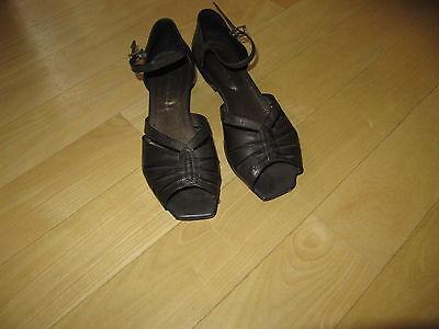Sandalen Schuhe Zanon & Zago Gr. 38 Leder Damenschuhe Sommerschuhe Pumps