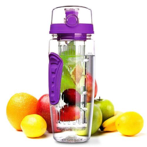 1000ml Fruit Infusing Infuser Water Bottle BPA Free Plastic Sports Detox  Health