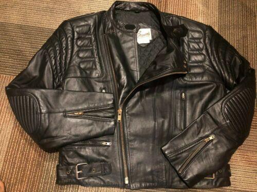 Vintage BERMANS Leather Motorcycle Jacket Men's Si