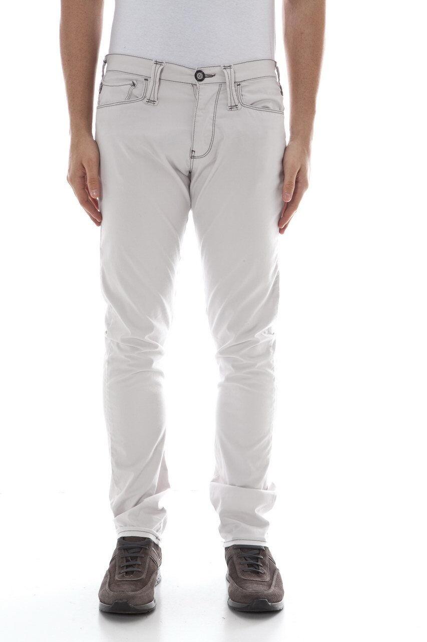Pantaloni Armani Jeans AJ Jeans Trouser Cotone men grey P6Y81PL 2H