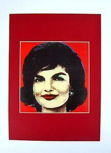 Herencia-de-edad-Pop-Art-presion-detras-de-Passepartout-jackie-kennedy-80er-36x26cm-115