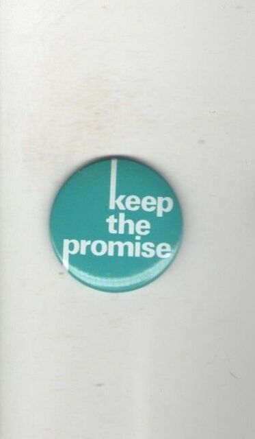 Old JEWISH Cause pin KEEP the PROMISE pinback button