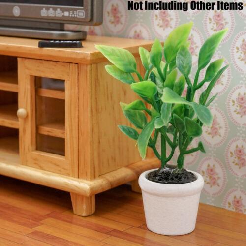En Maceta Planta de Plástico Verde 1:12 Miniatura Casa De Muñecas Juguete de decoración de jardín sala de estar