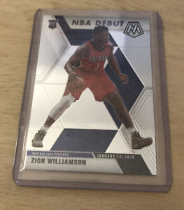 Zion Williamson HOT ROOKIE CARD PANINI MOSAIC NBA DEBUT 2019-20 RC #269