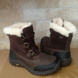 b323d9d1bd0 Details about UGG Ostrander Stout Leather Fur Waterproof Rain Snow Boots  Size US 6 Womens