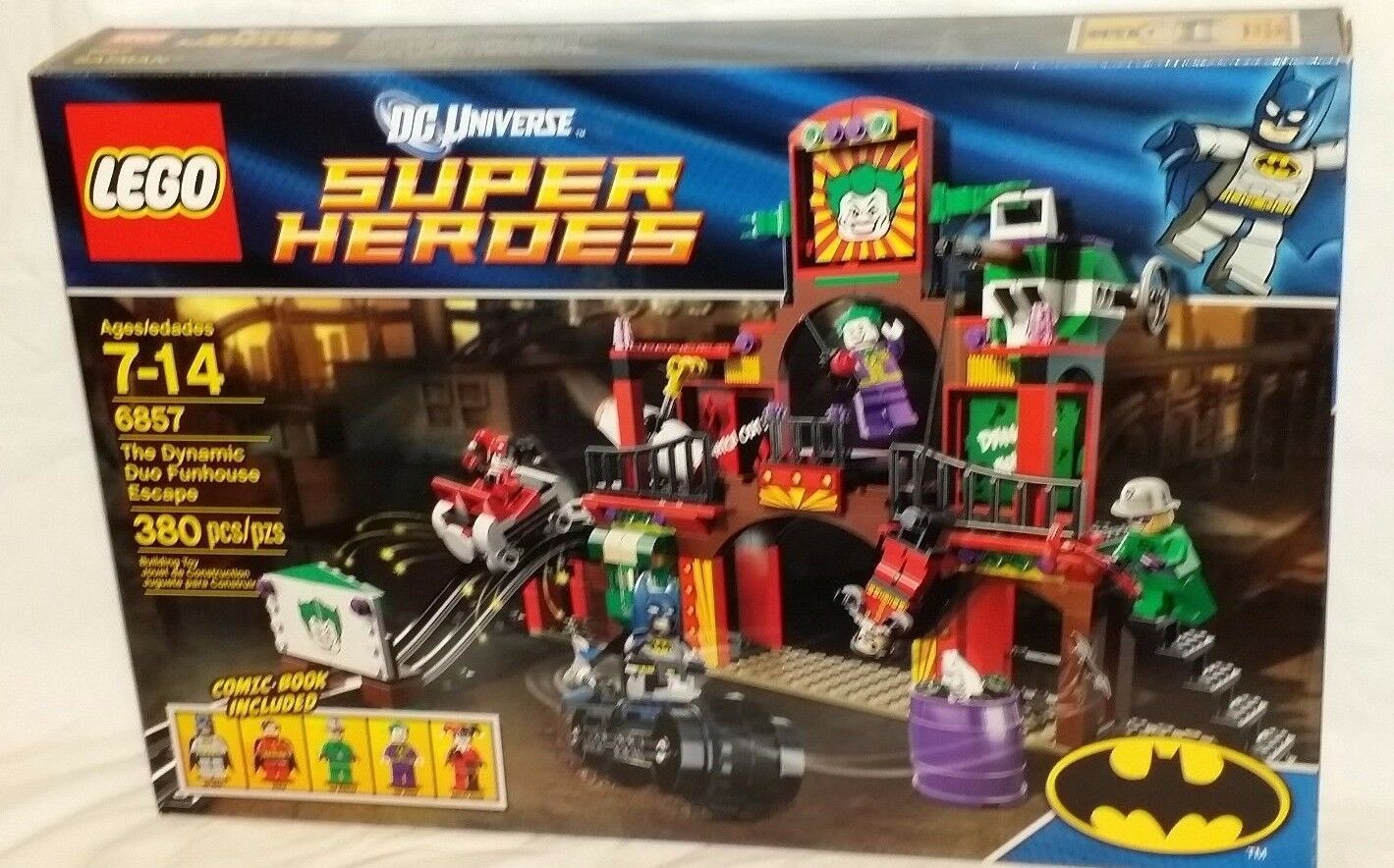 SEALED 6857 LEGO Dynamic Duo Funhouse Escape with Harley Quinn 380pc set RETIrosso