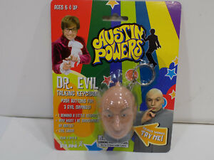 NEW-NIB-1999-AUSTIN-POWERS-DR-EVIL-TALKING-KEYCHAIN-BATTERIES-DEAD-COLLECTIBLE