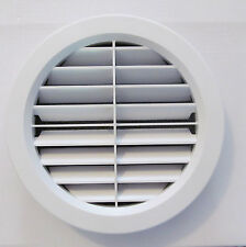 "7"" WHITE Jet Stream Wide Open Louver Ceiling A/C Filtered Vent Cover Screw RV"