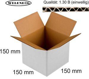 50x Faltkartons Faltschachtel Paket Verpackung Versand 1-wellig 300x300x300mm
