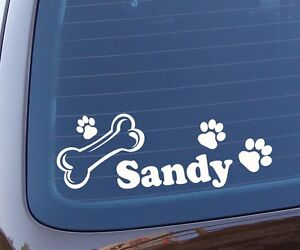 Hund Wunschname Fahrt Mit Autoaufkleber Auto Sticker Aufkleber Tier