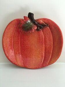 "Pumpkin ORANGE Soft Chenille Halloween Harvest Fall 5/""x7/"" Farmhouse Chic Country"