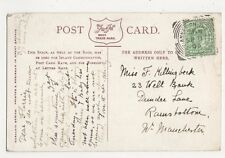 Miss F. Hillingbeck, 23 Well Bank, Dundee Lane, Ramsbottom 1905 Postcard, B153