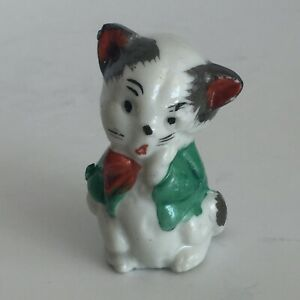 Old Twin Kitty figurines stamped MK made in Japan