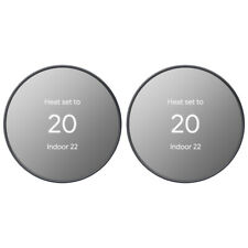 Google Nest Programmable Smart Wi-Fi Thermostat for Home 2-Pack, Charcoal
