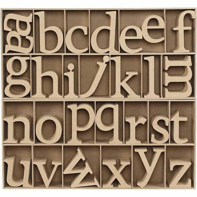 1pc Letter H: 8 cm S thickness 1,5 cm MDF