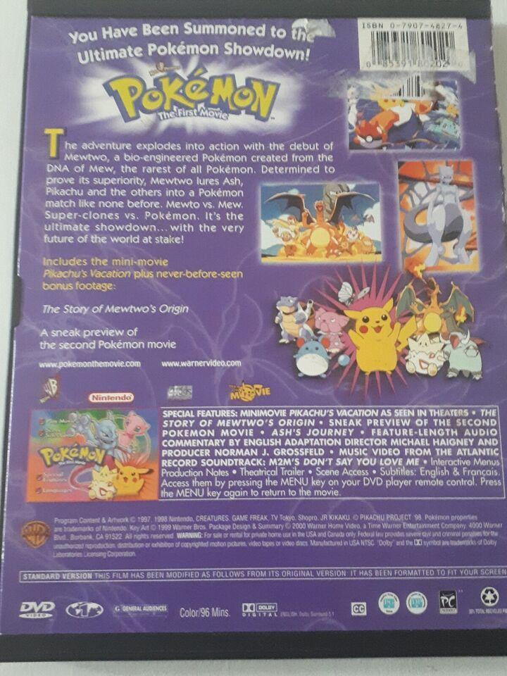 Pokemon: Mew two vs Mew, DVD, tegnefilm