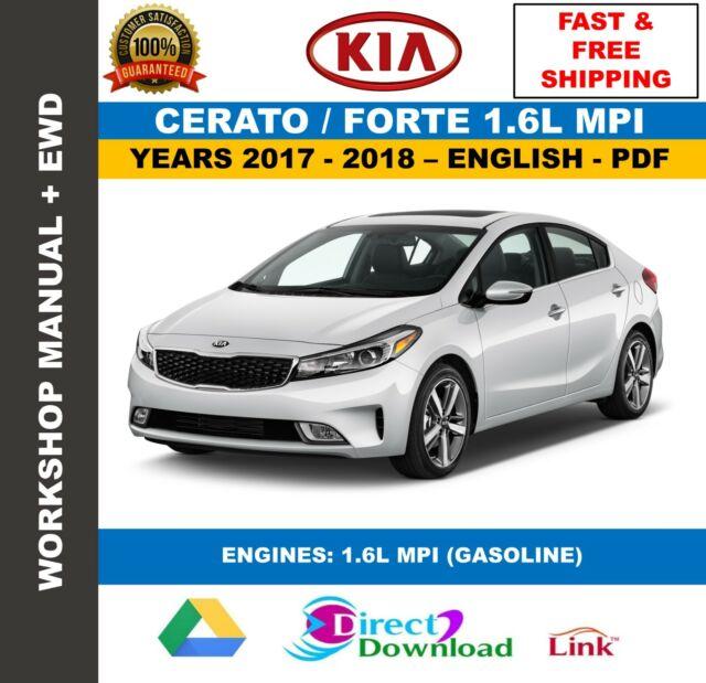 Workshop Manual Kia Cerato Forte 1 6l Mpi 2017